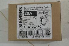 Siemens 1 POle 20 amp Arc Fault Combo Circuit Breaker Cat: Q120AFC