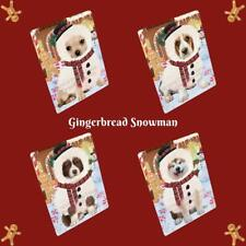 Christmas Gingerbread Snowman Dog Cat Pet Photo Lovers Refrigerator Magnet