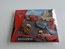 Japan Disney TOW MATER, FINN & LIGHTNING MCQUEEN Theater 3 Pin Set Pixar Cars