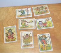 Vintage DONRUSS SUPER FREAKS Monster Baseball Cards 1973 Lot Stickers