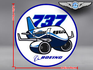 BOEING 737 B737 NG NEW GENERATION PUDGY STYLE ROUND DECAL / STICKER
