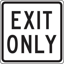 EXIT ONLY  BUSINESS HOME VINYL DECAL STICKER MULTIPLE SIZES TO CHOOSE FROM