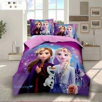Frozen Princess Single Bed Doona/Quilt/Duvet Cover Set Pillowcase Linen
