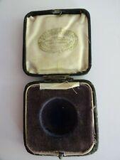 Antique FATTORINI & SONS Black MEDAL DISPLAY BOX Empty VELVET LINED