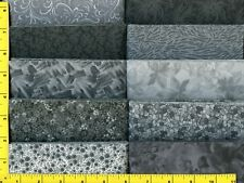 """Grey Jelly Roll 40 -2 1/2 """" Strips Quilting & Sewing Fabric"""