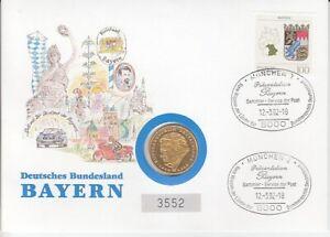 Numisbrief  Deutschland   Deutsches Bundesland Bayern  1992