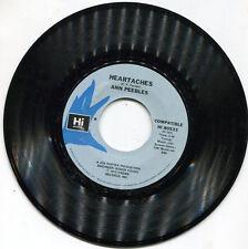 "Ann Peebles ""Heartaches"" NM Hi Records 45rpm #80533"