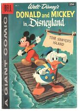 Dell Giant Donald Duck and Mickey Mouse in Disneyland #1 1958 FN