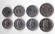 BELIZE - 4 DIF UNC COINS SET: 1 - 25 CENTS