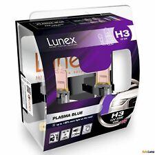 2x H3 PLASMA BLUE Lunex 4200K 12V Azul Bombillas Halógenas Faros Hard Case