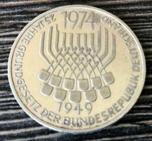 GERMANY Federal Republic 5 MARK 1974 F