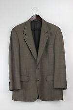 Vintage BURBERRY Nailhead Weave Heathered BROWN 100% Wool Suit Sportcoat Blazer