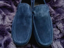 Men's Kenneth Cole Size 10 Medium Slip On  Deep Navy Blue Suede Shoes TRUE  Navy