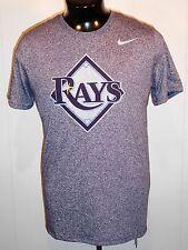 TAMPA BAY RAYS MEN'S T SHIRT Med.  BLUE S. SLEEVE MLB BASEBALL THE NIKE TEE