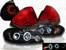 06-13 CHEVY IMPALA CCFL HALO PROJECTOR HEADLIGHTS+RED LED TAIL LIGHTS 07 08 09