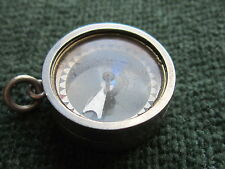 victorian silver working compass fob unusual opening locket