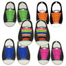 16pcs/Set Unisex Silicone Elastic Shoelaces No Tie Shoe Laces Fit All Sne Dshq