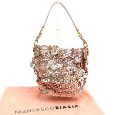 Francesco Biasia Handbag Pink Gold Woman Authentic Used Y6046
