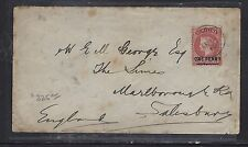 ST HELENA COVER  (P1108B) 1900 QV 1D TO ENGLAND