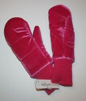 New Gymboree Girls Fuchsia Pink Velvet Mittens size Large 10 12 year
