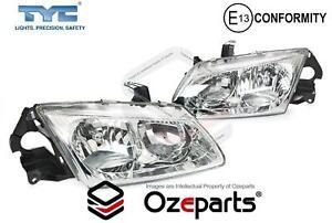 Set Pair LH+RH Head Light Dual Reflector For Nissan Pulsar N16 Sedan Hatch 00~03