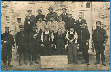 CPA PHOTO: 17° Régiment d'Artillerie / Saint-Gérand / Guerre 14-18 / 1914