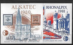 BLOC C.N.E.P. N°1 ET N°2  1980/1981 LUXE xx cote 22€