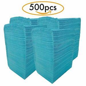 """Mydent Defend+Plus Patient Towel, 2-ply Paper, Poly, 18"""" x 13"""", Blue, PB-8001"""