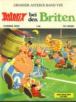 GROSSER ASTERIX BAND VIII Asterix bei den Briten - TOP Z0-1 ORIGINAL ERSTAUFLAGE