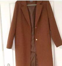 Primark Duster Parka Teddy Tan Mac Coat Jacket Long