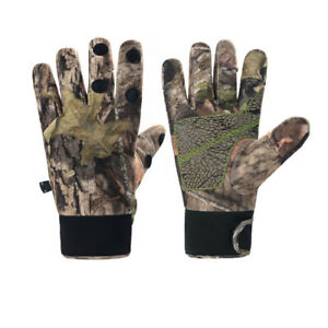 Waterproof Leaky Finger Bionic Camouflage Gloves Outdoor Fishing Gloves
