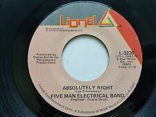 """FIVE MAN ELECTRICAL BAND - Absolutely Right / (You And I) Butterfly 1971 ROCK 7"""""""