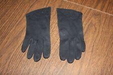 Vintage Ladies Women's Black Gloves As Is One Size 7 Shrunk Cotton Pretty