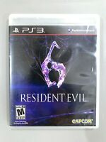 Resident Evil 6 SONY PLAYSTATION 3 PS3 Game COMPLETE CIB Tested + Working!
