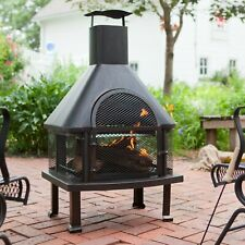 Coral Coast Wellington 4 ft. Fireplace with Free Cover Log Holder Stove Outdoor