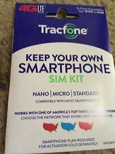 Tracfone Phone Sim Card 3/1 Kit Gsm Cdma Verizon At&T New Nano Bring Your Phone