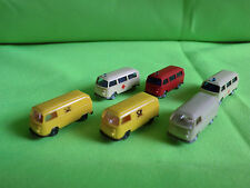 6  X  WIKING   - OLD  VW BUS  - VINTAGE  + 2 replica wiking MADE IN HONG KONG