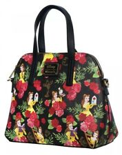 Loungefly Disney Beauty and the Beast Belle Rose Floral Crossbody Bag Purse NWT!