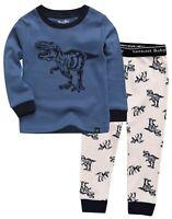 "Vaenait Baby Toddler Kids Clothes Long  Pajama Set ""Hunter Dino Blue"" 12M-12Y"