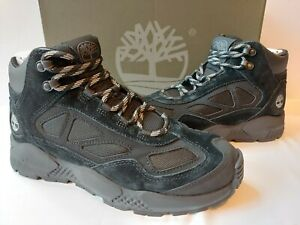 Timberland Ripcord Mid-Top Hiker Boots Black Suede Leather Mens 11 M