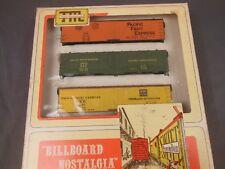 HO TRAIN MINIATURE 8707 PFE BILLBOARD NOSTALGIA REEFER 3-PACK KIT