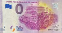 BILLET 0 EURO CRISTO REDENTOR RIO DE JANEIRO  2019-1 TOUT PETIT N° 07