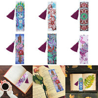 DIY Special Shaped Diamond Painting Leather Tassel Bookmark Creative Crafts Gift