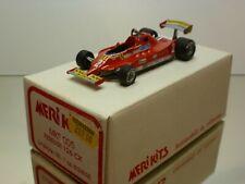 MERIKITS MKS005 FERRARI 126CK GP ESPANA '81 VILLENEUVE - 1:43 - EXCELLENT IN BOX