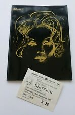 More details for marlene dietrich  royal gala charity midnight show brochure & ticket 15 sep 1971