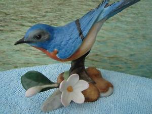 Eastern Bluebird The Franklin Mint Porzellanfigur Porzellanvogel Vogel