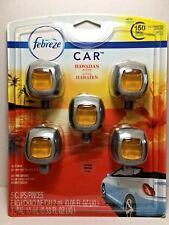 5 Febreze AIR FRESHENER Car Vent Clips *** HAWAIIAN ALOHA ***