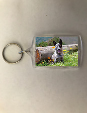 Dog Keychain Key Chain Australian Cattle Dog