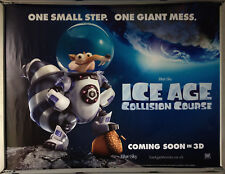 Cinema Poster: ICE AGE COLLISION COURSE 2016 (Space Quad) Simon Pegg Denis Leary