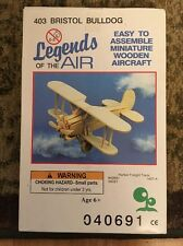 Legends of the Air #403 Bristol Bulldog, Wooden Aircraft Model Kit, New Unopened